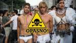 Revelers enjoy during the annual Gay Pri