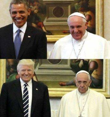 trump-pope-obama